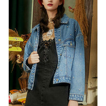 Load image into Gallery viewer, Diamond loose denim jacket