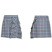 Load image into Gallery viewer, High waist plaid skirt