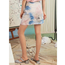 Load image into Gallery viewer, Printed bow disk flowers buckle skirt