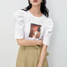 Load image into Gallery viewer, Puff sleeve print top