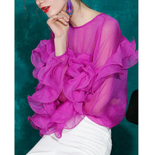 Load image into Gallery viewer, Ruffled chiffon top