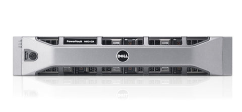 <b>Dell PowerVault MD3800i 2U storage</b> (12) 3TB 7.2K SAS, (2) Quad-Port Controllers, (2) PSU, Rails