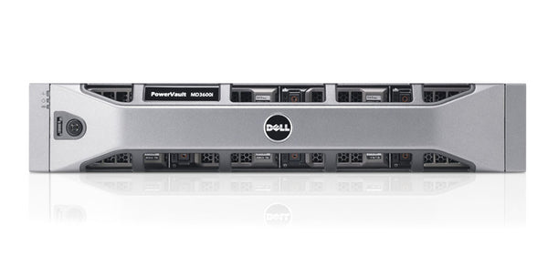 <b>Dell PowerVault MD3600i 2U storage</b> (12) 3TB 7.2K SAS, (2) Dual-Port Controllers, (2) PSU, Rails