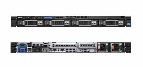 <b>Dell PowerEdge R430 1U rack server</b> (2) Xeon E5-2620 V3 6C, 32GB RAM, (2) 120GB SSD, (2) 6TB 7.2K SAS