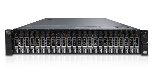 <b>Dell PowerEdge R720XD 2U rack server</b> (2) Xeon E5-2670 V2 10C, 128GB RAM, (2) 240GB SSD, (22) 960GB SSD