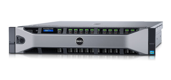 <b>Dell PowerEdge R730 2U rack server</b> (2) Xeon E5-2678 V3 12C, 64GB RAM, (16) 240GB SSD