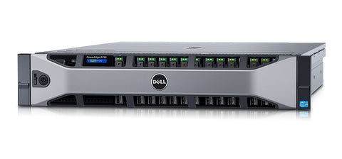 <b>Dell PowerEdge R730 2U rack server</b> (2) Xeon E5-2620 V3 6C, 32GB RAM, (4) 480GB SSD