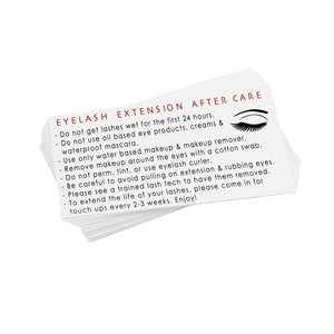 Eyelash Extension After Care Lash Instruction Card & Appointment Cards