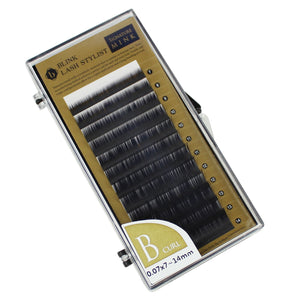 Eyelash Extension Blink Mink B 0.07 Curl 7mm-14mm Mixed Size Tray