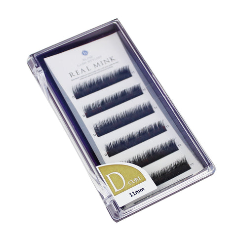 Blink Lashes 100% Real Mink Fur Lashes D Curl For Eyelash Extension