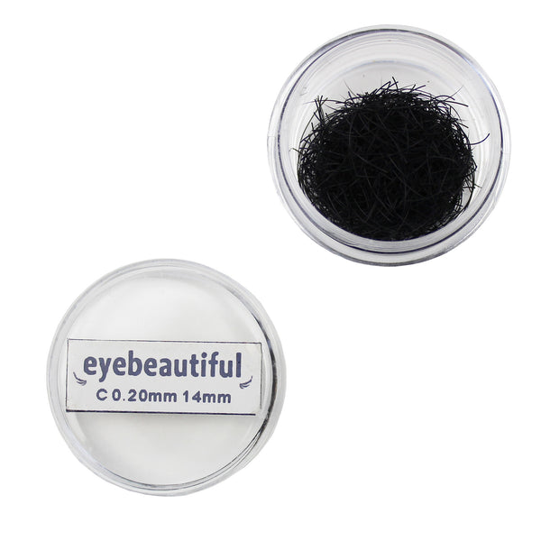 Eyebeautiful Individual Loose Silk Lashes .20mm J Curl Eyelash Extension