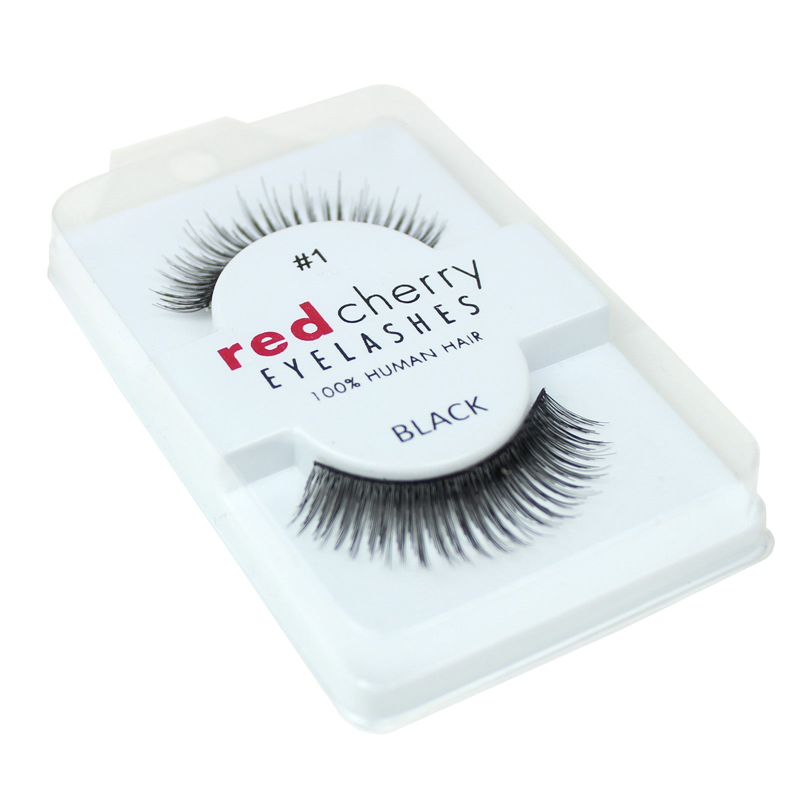 Red Cherry 100% Human Hair False Eye Lashes Fake Eye Lashes #1 Chloë