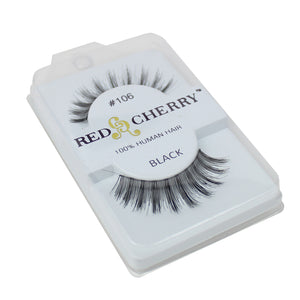 Red Cherry 100% Human Hair False Eye Lashes Fake Eye Lashes #106