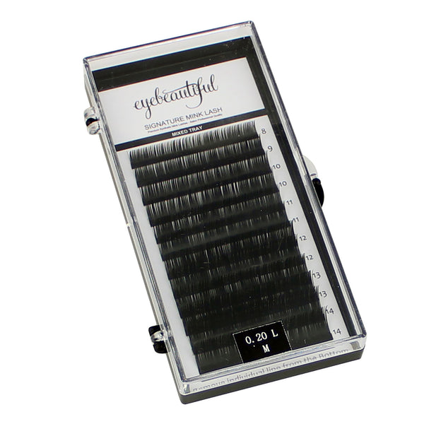 Eyebeautiful Premium MINK Individual Lashes 0.15mm, 0.20mm, Or 0.25mm Mixed L Curl Lash Extension