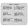 macOS Shortcuts Mousepad (Light Mode)