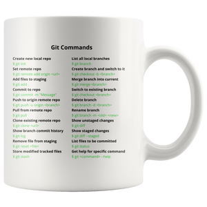 Git Commands Mug (Light Mode)