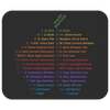 VERY LIMITED: macOS Shortcuts Mousepad (Classic Rainbow)