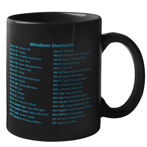LIMITED: Windows Shortcuts Mug (Enterprise Edition)