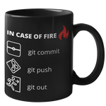 In Case of Fire Git Mug (Dark Mode)