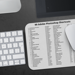Adobe Photoshop 99 Shortcuts Mousepad For Microsoft Windows
