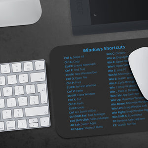 LIMITED: Windows Shortcuts Mousepad (Enterprise Edition) Mousepads teelaunch
