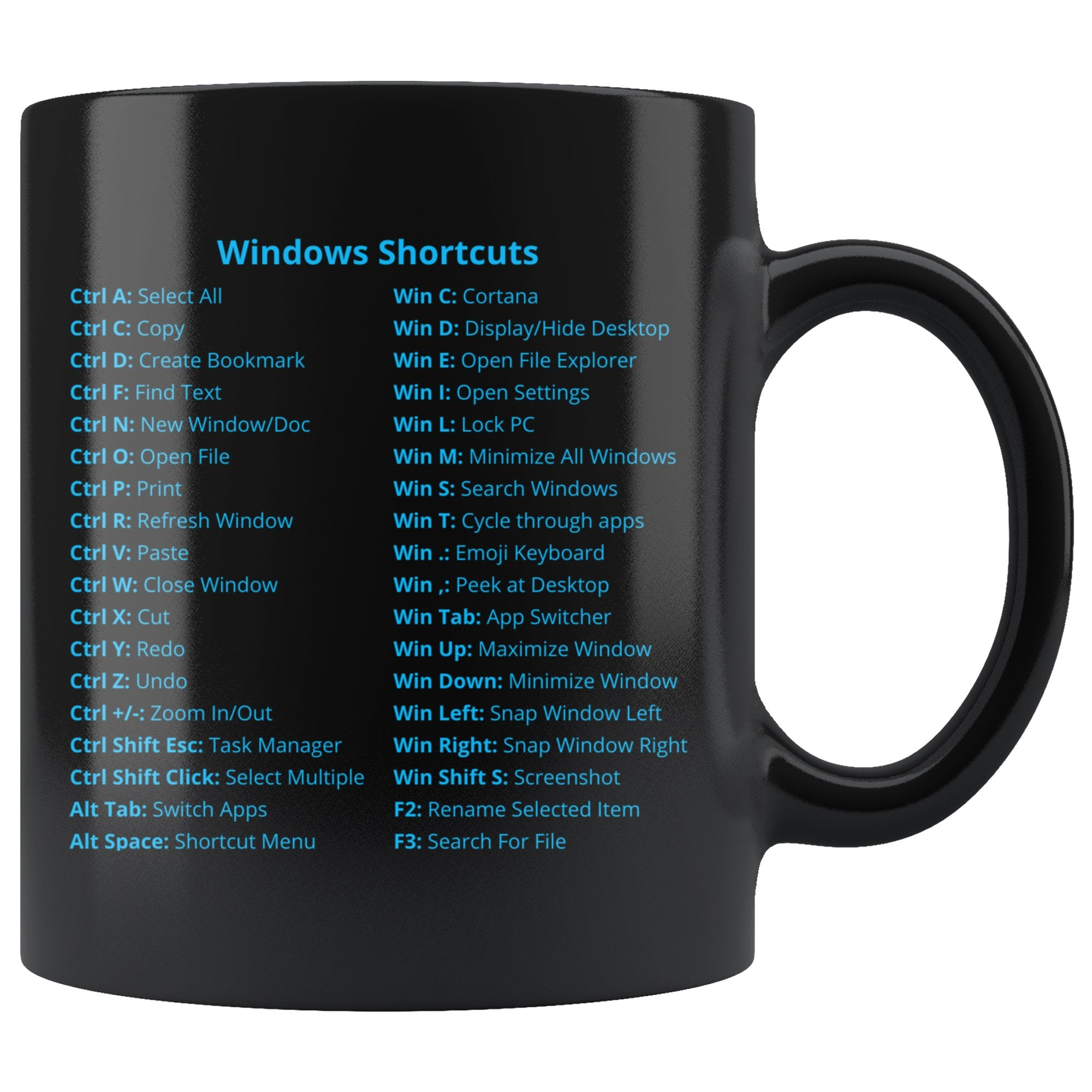 LIMITED: Windows Shortcuts Mug (Enterprise Edition) Drinkware teelaunch