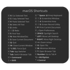 macOS Shortcuts Mousepad (Dark Mode)