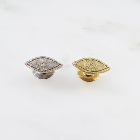 SAMPLE SALE! Watchful Eye Pin - brass