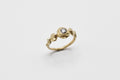 Ore ring - 14k gold with salt & pepper diamond