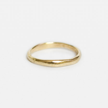 Organic round band - 3mm - gold