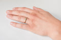 Hana ring - 14k gold with bicolor sapphire and white diamonds