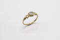 Amo ring - 14k gold with salt & pepper diamond