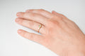 Beam ring - 14k gold with salt & pepper diamond