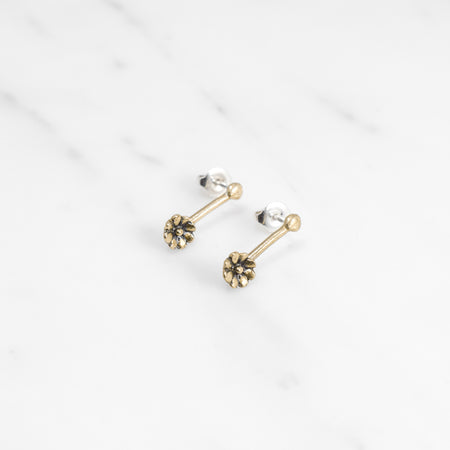 Aster drop earring - brass