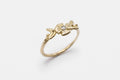 Flora ring - 10k gold with diamond - READY TO SHIP