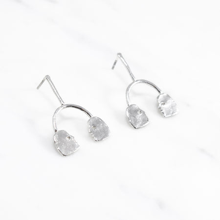 Conversation earrings - silver