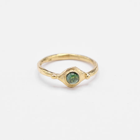 Vita ring - 14k gold with green tourmaline