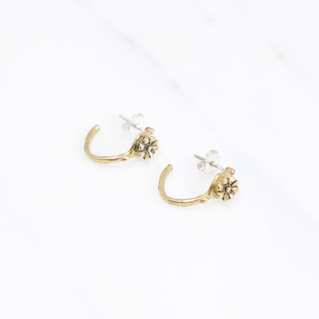 Aster crown hoops - brass