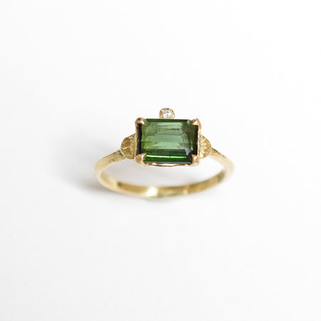 Julian ring - 10k gold with tourmaline and diamond