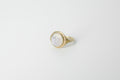 Face signet ring - Brass