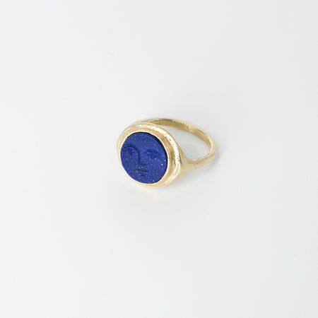 Face signet ring - 10k gold