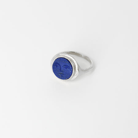 Face signet ring - Silver