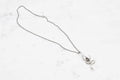 Hand & Snake necklace - silver