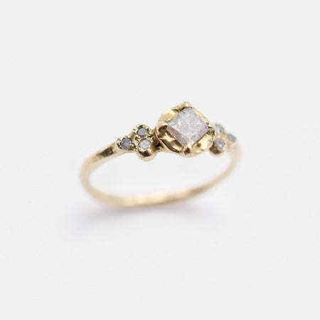 Haven ring - 14k gold with salt & pepper diamonds