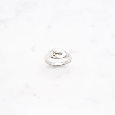 Tiny D ring - Wide version - silver
