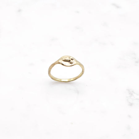 Custom listing for Diana - Tiny D ring - brass - size 5