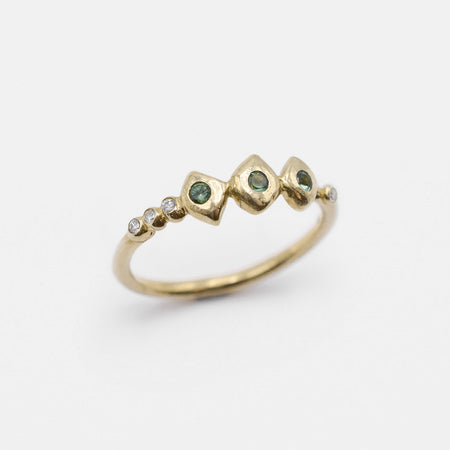 Chlo Ring - 14k gold with sapphires and diamonds - READY TO SHIP