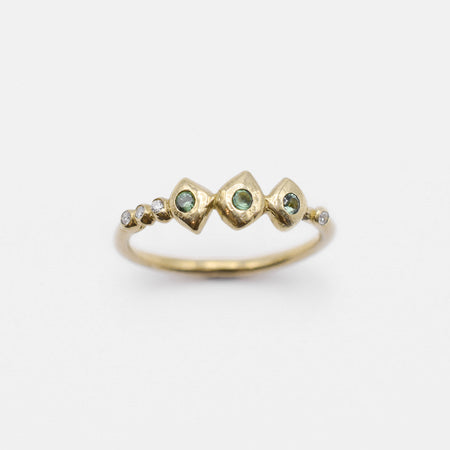 Chlo Ring - 14k gold with sapphires and diamonds