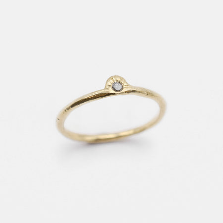 Daybreak Ring - 10k gold with salt & pepper diamond