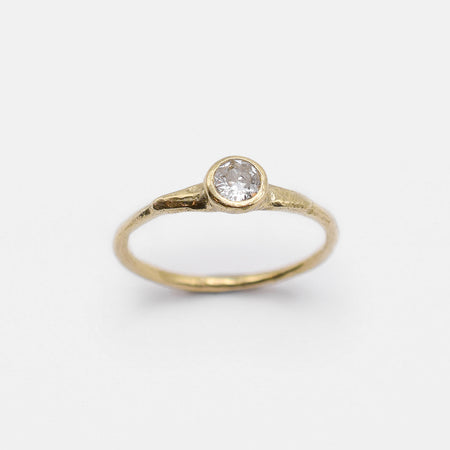 Eos Ring - 14k gold with old mine cut diamond - READY TO SHIP
